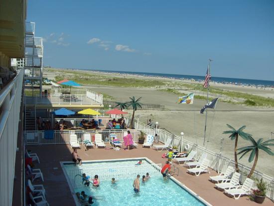 Madrid Oceanfront Condominiums: Vue de la piscine et de la plage