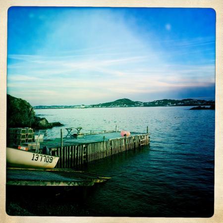 Captain's Legacy B & B: View towards Twillingate harbour