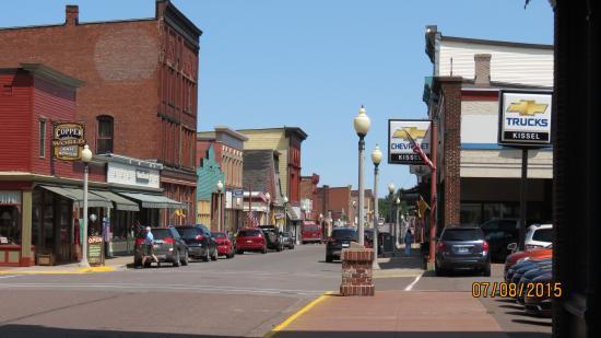 Calumet, MI: The street outside the Visitors Center