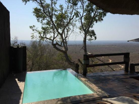 Rock lodge makwela suite view from terrace and for Terrace of infinity