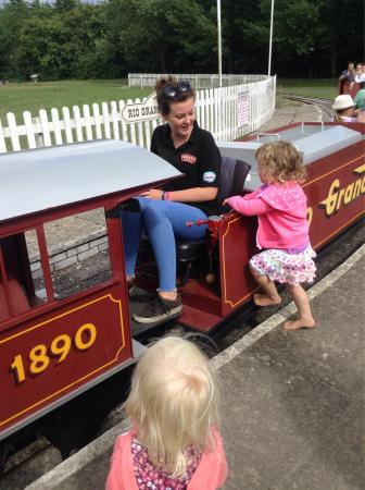 Weymouth, UK: Minature train trip around the country park.