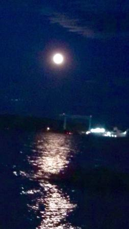 Beach Harbor Resort: Blue Moon over The bay