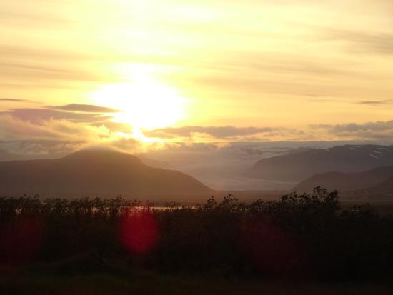 Fosshotel Vatnajokull: Schöne Aussicht auf den Gletscher beim Hotel
