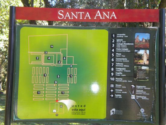 Ruina de Santa Ana: Cartel indicador