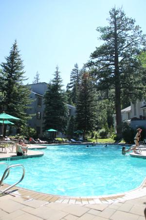 Squaw Valley Lodge : Very Clean Poolside with BBQ's