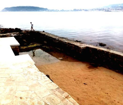 Baiona, Spain: vista de la cetaria reformada