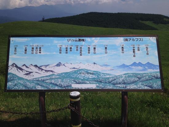Kirigamine Fujimidai: 霧ケ峰富士見台から見える山々