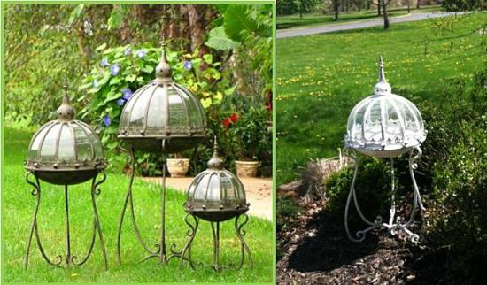 Pittsfield, MA: wonderful selection of unique iron terrariums, benches, tables, lanterns