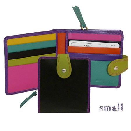 Pittsfield, MA: lots of fun color leather wallets  . . . and some not so colorful!