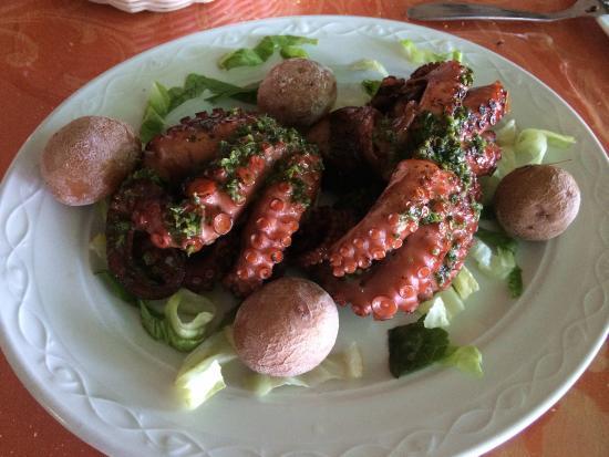 Exquisita comida picture of el amanecer arrieta for Se puede cocer el pulpo congelado