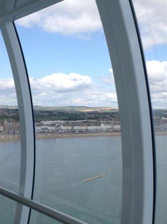 Photos from inside Weymouth Tower capsule.