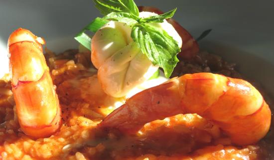 Tucker's Town, Bermuda: Risotto with Shrimps and Burrata