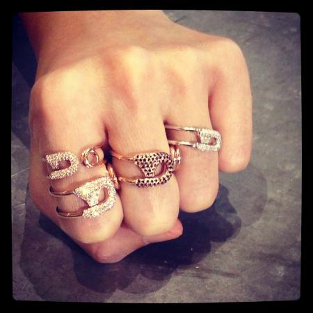 8eeada1da Safety Pin rings - Picture of Carrie K. Artisan Jewellery, Singapore ...