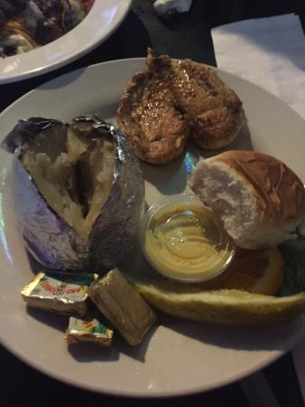 Summit Food and Spirits: Charbroiled chicken and baked potato.