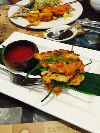 "Chef Doy's: Yummy yum yum stuffed peppers (""tortang sili"")."