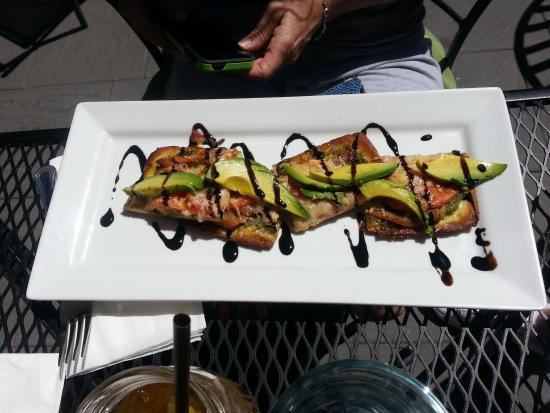 Open Door Wine Bar: gluten free flatbread was AWESOME
