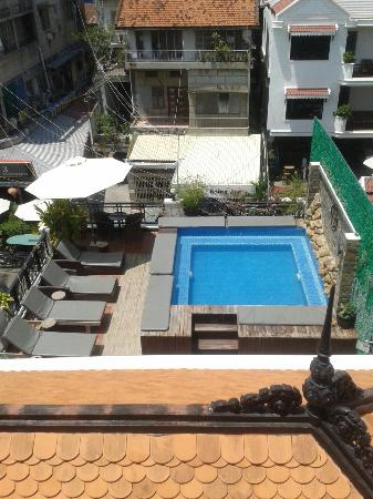 Number 9 Hotel: Small pool view from my balcony may 2015