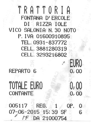 trattoria fontana dercole fake receipt well actually it is real but - Fake Receipt
