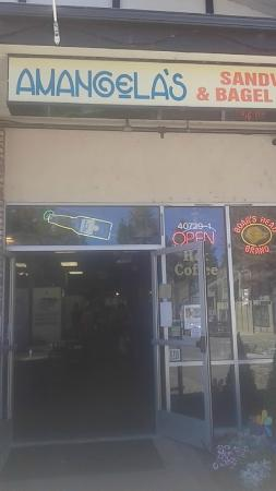 Amangela's Sandwich and Bagel House: Store front