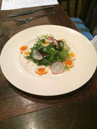 The Devonshire Arms: The Quails' Egg Salad with Truffle Mayo made an excellent starter
