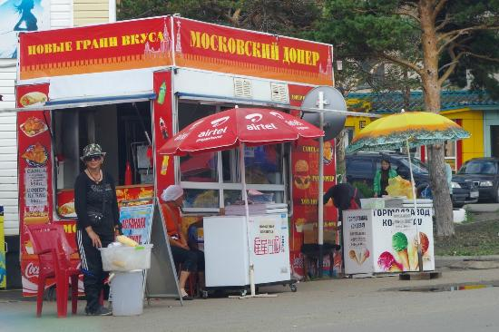 Akmola Province, Kazakhstan: Jaja, die berühmten Moskauer Döner sind schon was besonderes.