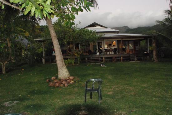 Chambre d'hotes Temehani : vue de la maison