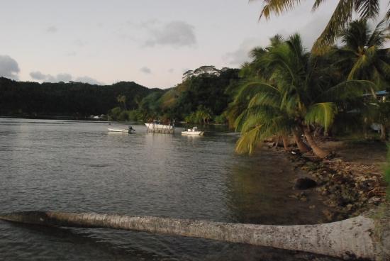 Chambre d'hotes Temehani : vue sur la baie