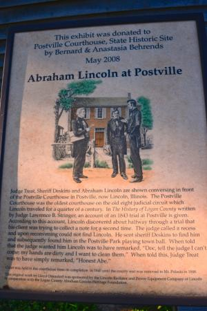 ‪‪Postville Courthouse State Historic site‬: Historical Lincoln Information‬