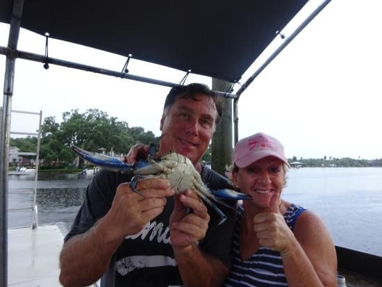 Homosassa Riverside Resort: Monster Crab, with claws 25 inches