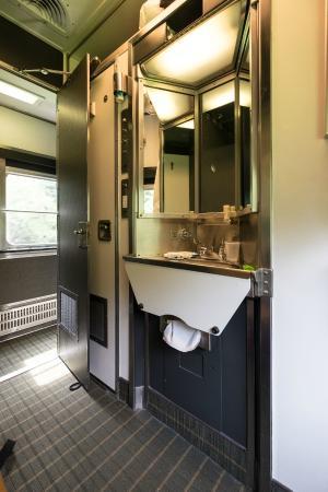 VIA Rail Canada: Sink And Toilet (behind Door) In Sleeper Cabin