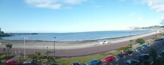 Trevone Hotel: view from our roomDaytime