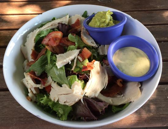 Kim's Key Lime Pie and Lotus Kitchen : Turkey club prepared as a salad