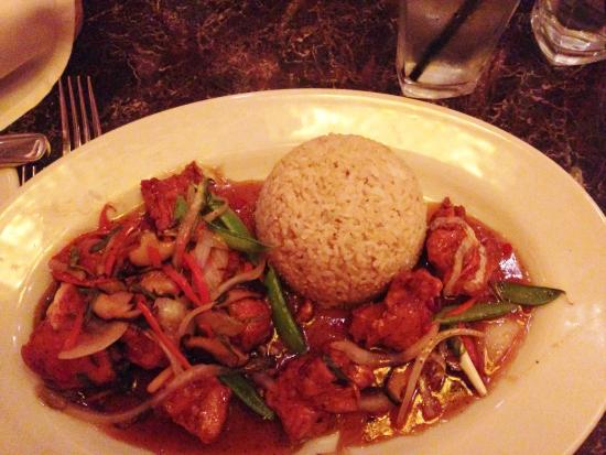 Grand Lux Cafe: A spicy chicken dish