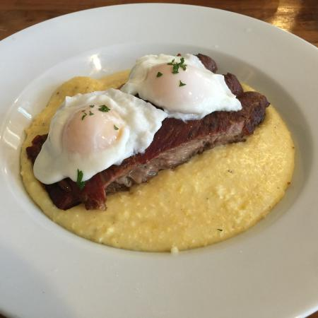Worth Our Weight : Great people great cause great food the daily special was pork ribs with poached eggs and polent