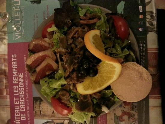 La Cotte de Mailles: Salade périgourdine (Entrée du menu à 28 €)