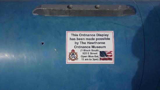 Hawthorne, NV: sticker on all the ordnance