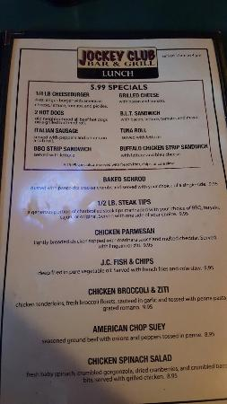 Jockey club raynham menu prices restaurant reviews for Puerta 4 jockey club