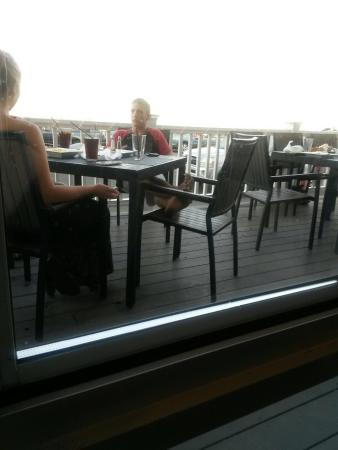 Paragon Grill : Would be a great view if not for this guy's foot.