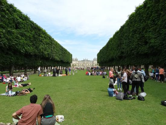 Paris, Frankrike: Jardim de Luxemburgo