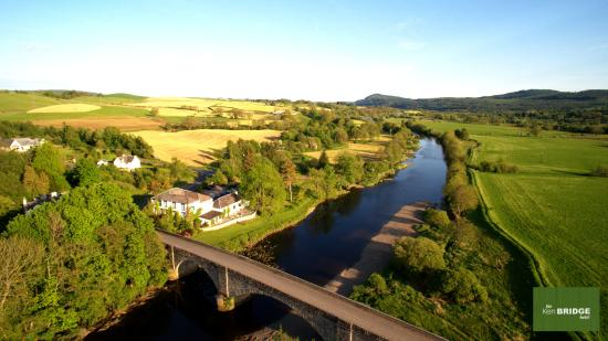 Ken Bridge Hotel: Our drone got this amazing shot of The Kenbridge - a gift to the landlord for a lovely stay