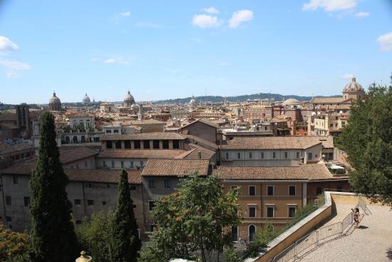 Cafe Capitoline View - Picture of Terrazza Caffarelli, Rome ...