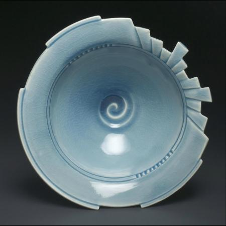 Hood River, OR: Celadon ceramics by Linda Heisserman
