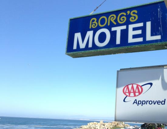 Borg's Ocean Front Motel: the bay from the east building
