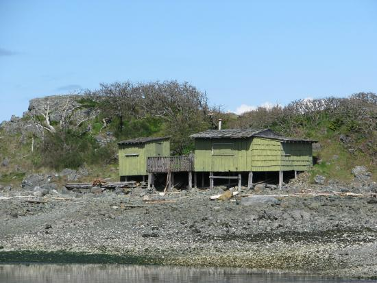 Nanaimo, Canadá: Close-up of the green shack