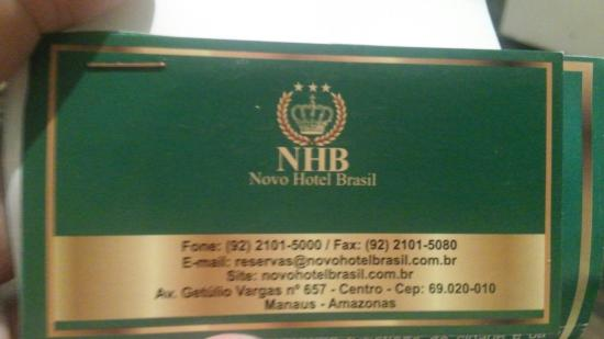 Novo Hotel Brasil: Oi