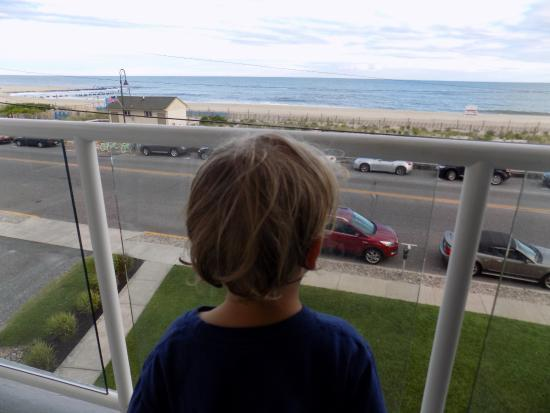 Summer Station Hotel: My son enjoyed the balcony as much as I did... perfect for morning coffee