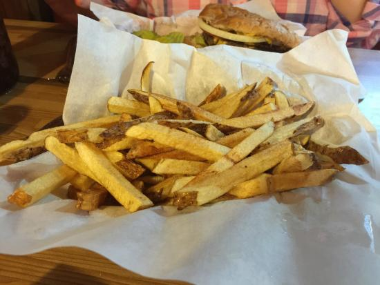 Cherokee, OK: The half-order of hand-cut fries was more than my wife and I could eat.