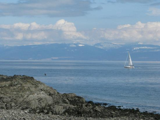Nanaimo, Canada: View from the beach