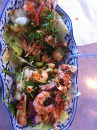 Thai Princess Restaurant: Seafood salad. Yuck