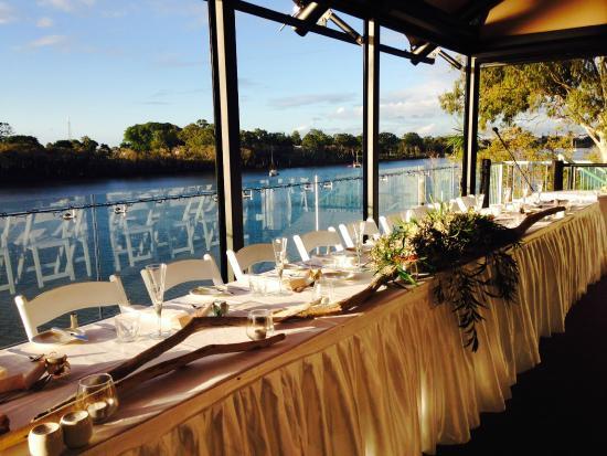 H2O Restaurant and Bar: Wedding Setup on H20 River Deck